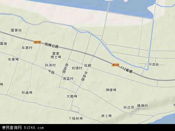 中国湖北省武汉市新洲区双柳地图(卫星地图)