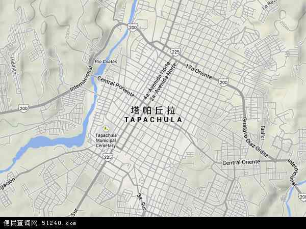 塔帕丘拉地图 - 塔帕丘拉卫星地图