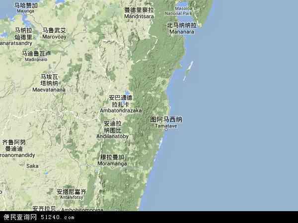 马达加斯加图阿马西拉地图(卫星地图)