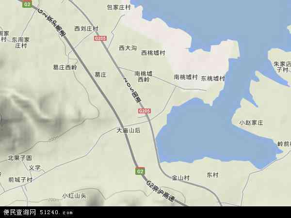 中国山东省临沂市蒙阴县桃墟镇地图(卫星地图)