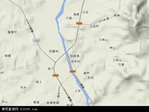 铁路镇地图 - 铁路镇卫星地图