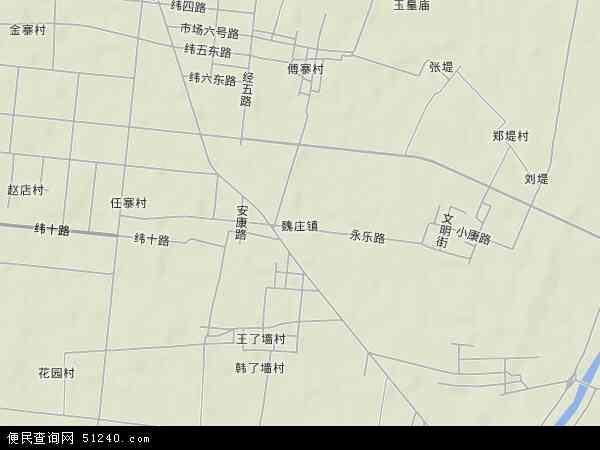 中国河南省新乡市长垣县魏庄地图(卫星地图)