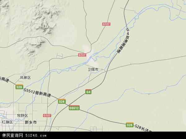 中国河南省新乡市卫辉市地图(卫星地图)