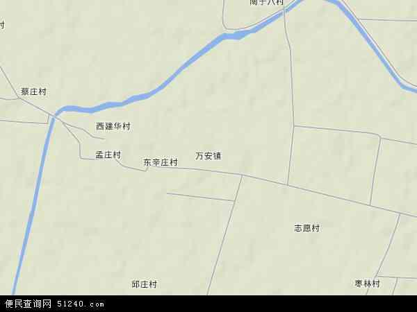 中国河北省保定市蠡县万安镇地图(卫星地图)