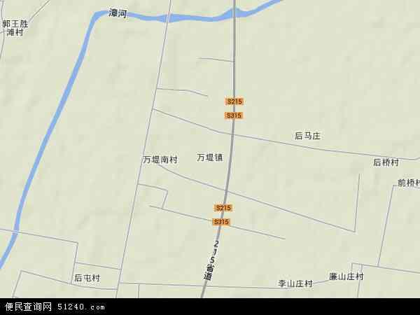 万堤镇地图 - 万堤镇卫星地图