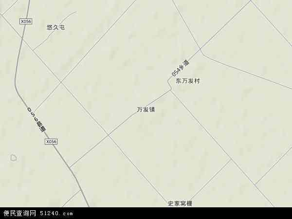 中国吉林省四平市梨树县万发镇地图(卫星地图)