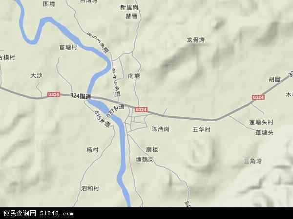 中国广东省云浮市罗定市围底镇地图(卫星地图)