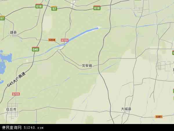 中国河北省廊坊市文安县地图(卫星地图)