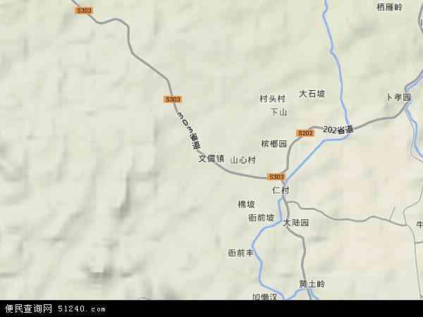 中国海南省省直辖县级行政区划澄迈县文儒镇地图(卫星地图)