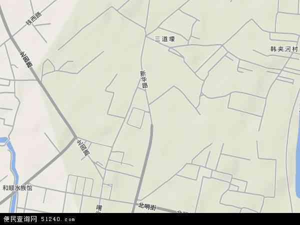 中国辽宁省辽阳市白塔区新华地图(卫星地图)