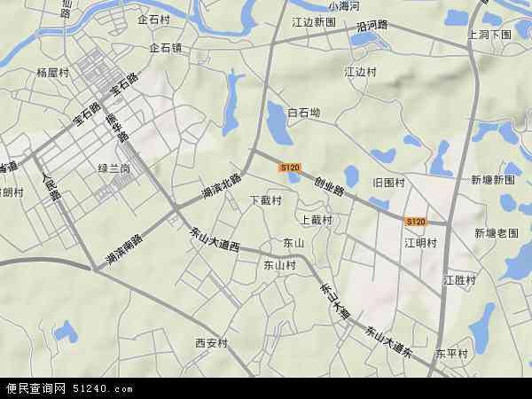 下截村地形地图
