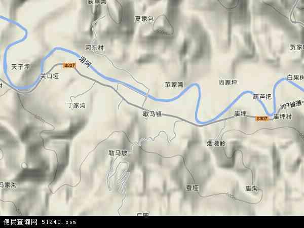 中国湖北省襄阳市保康县歇马镇地图(卫星地图)