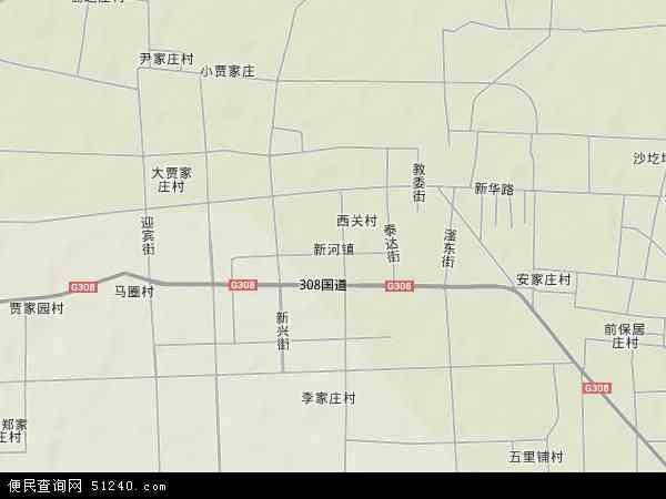 中国河北省邢台市新河县新河镇地图(卫星地图)