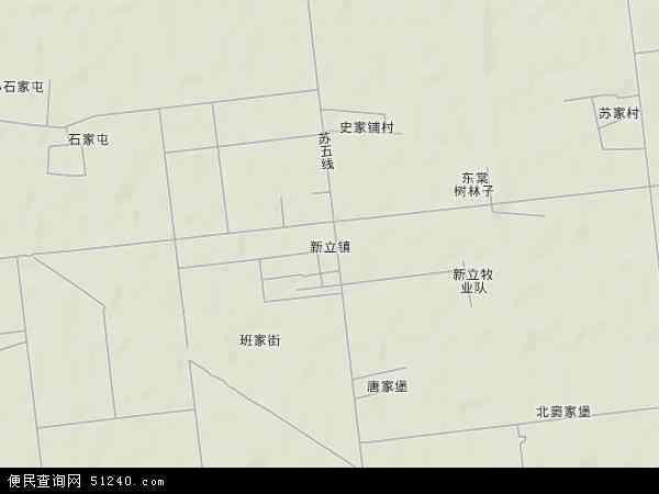 中国辽宁省盘锦市大洼县新立镇地图(卫星地图)