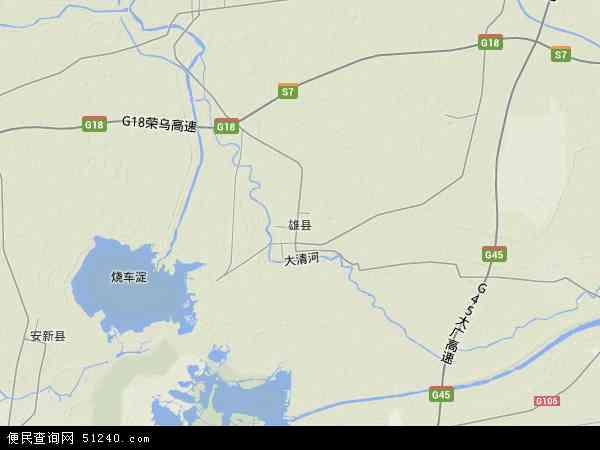 中国河北省保定市雄县地图(卫星地图)