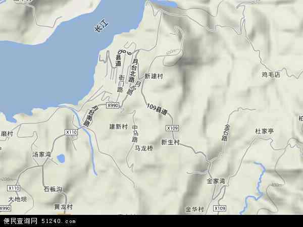 西沱镇地形图 - 西沱镇地形图高清版 - 2016年西沱镇地形图