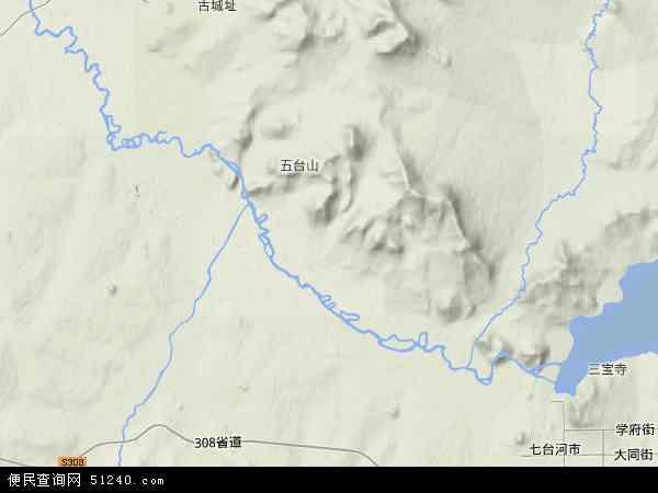 中国黑龙江省七台河市新兴区地图(卫星地图)