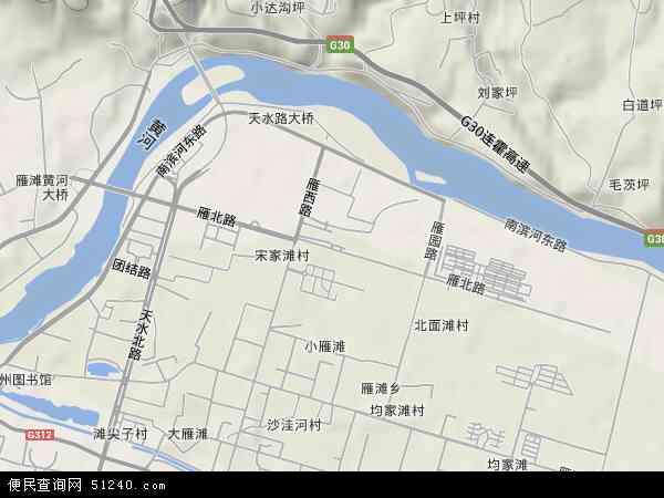 中国 甘肃省 兰州市 城关区 雁北  本站收录有:2019雁北卫星地图高清图片
