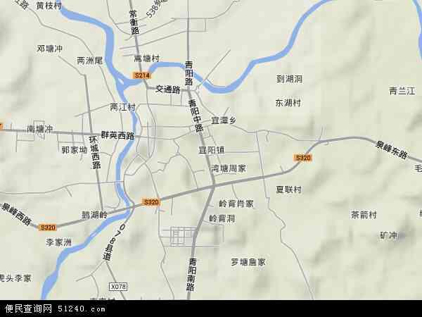 宜阳地形地图