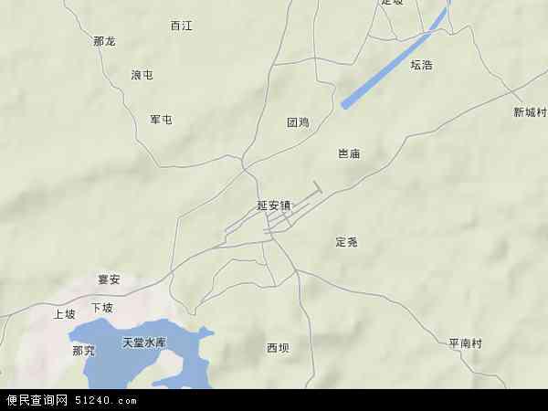 市江南区延安镇地图