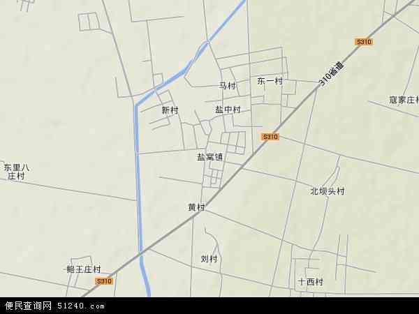 中国山东省东营市利津县盐窝镇地图(卫星地图)