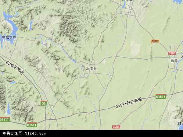 中国山东省临沂市沂南县地图(卫星地图)