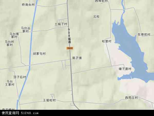 中国山东省威海市荣成市荫子镇地图(卫星地图)