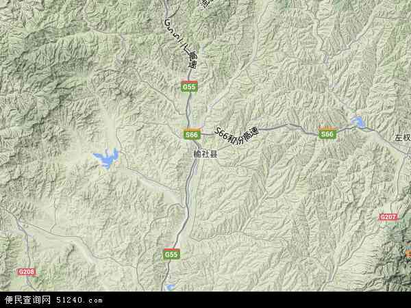 中国山西省晋中市榆社县云簇镇地图(卫星地图)