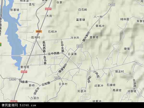 中国湖南省岳阳市云溪区云溪镇地图(卫星地图)