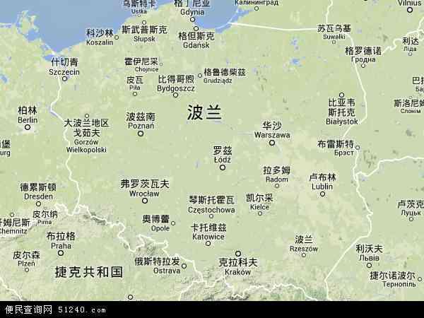波兰雅沃兹诺地图(卫星地图)