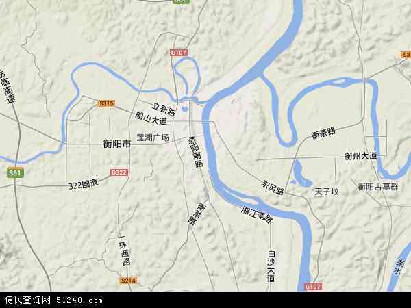 雁峰区高清卫星地图 雁峰区2017年卫星地图 中国湖南省衡阳市雁峰