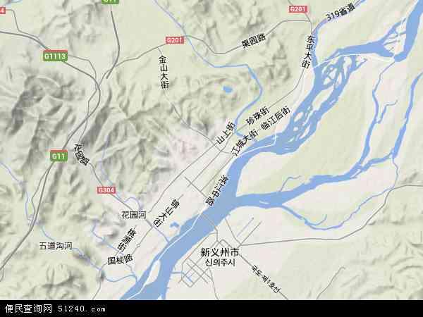中国辽宁省丹东市元宝区地图(卫星地图)