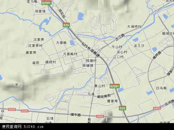 转塘地图 - 转塘卫星地图