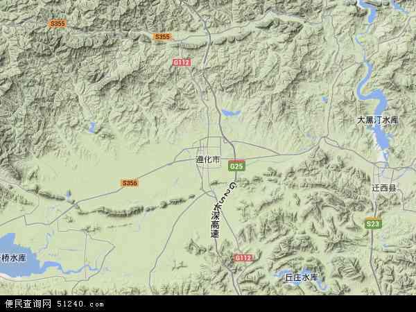 中国河北省唐山市遵化市地图(卫星地图)