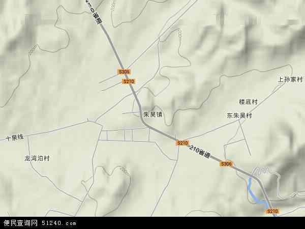 中国山东省烟台市海阳市朱吴镇地图(卫星地图)