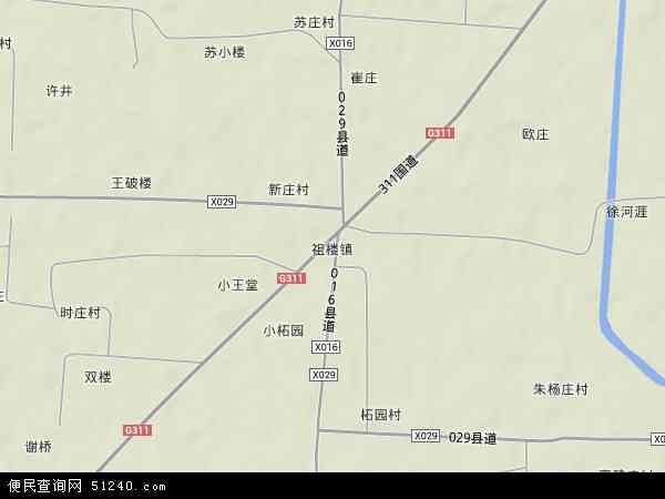 中国安徽省宿州市萧县祖楼镇地图(卫星地图)