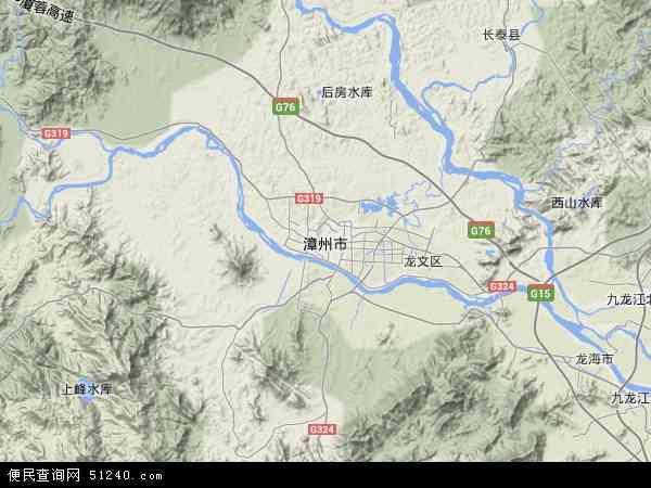 漳州市地图-漳州市卫星地图