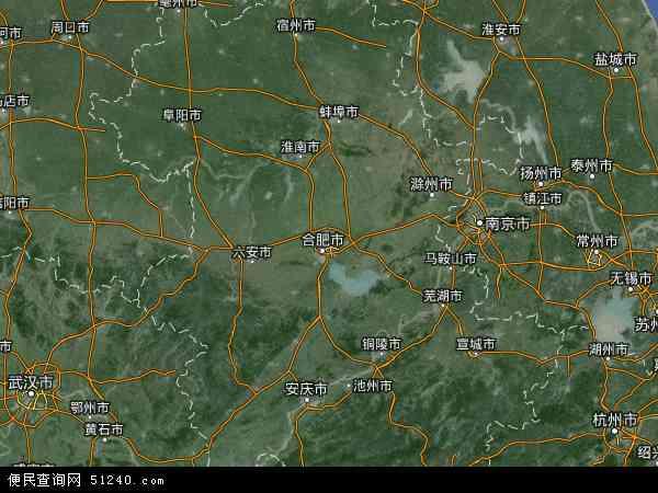 安徽省地图 - 安徽省卫星地图 - 安徽省高清航拍
