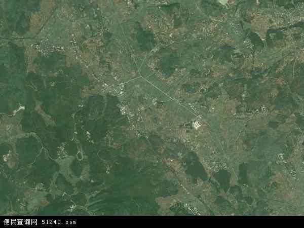 中国湖南省郴州市桂阳县敖泉镇地图(卫星地图)