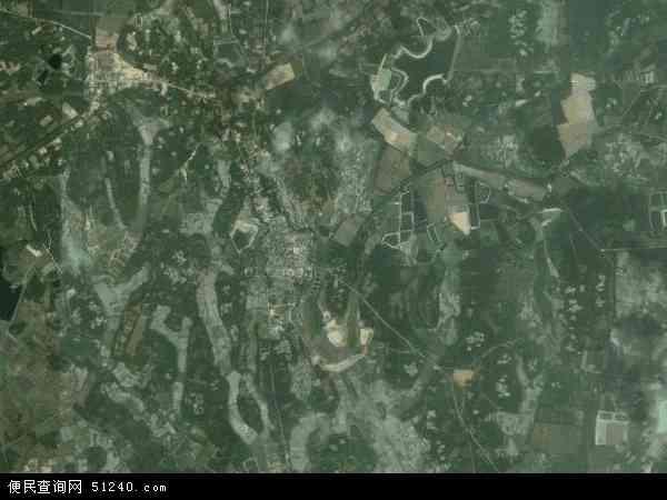 中国海南省省直辖县级行政区划文昌市抱罗镇地图(卫星地图)
