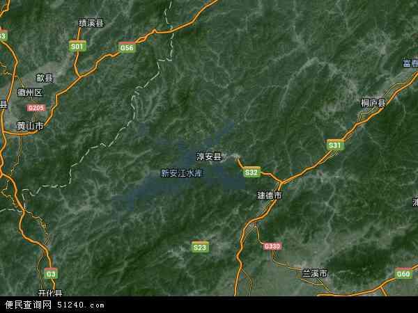 淳安县地图 - 淳安县卫星地图