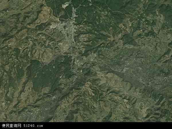 中国贵州省六盘水市盘县大山镇地图(卫星地图)