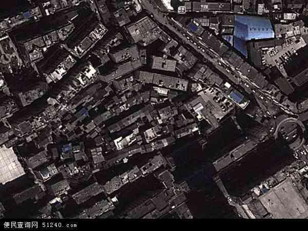 中国贵州省安顺市西秀区东街地图(卫星地图)