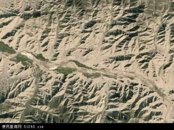 中国青海省海西蒙古族藏族自治州都兰县沟里乡地图(卫星地图)