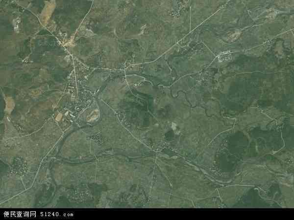 中国湖南省永州市道县蚣坝镇地图(卫星地图)
