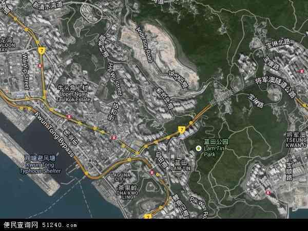 中国香港观塘区地图(卫星地图)图片