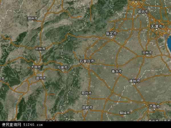 中国河北省地图(卫星地图)