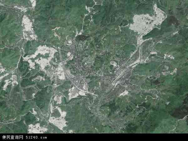 中国福建省宁德市古田县鹤塘镇地图(卫星地图)