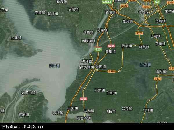 洪泽县地图 - 洪泽县卫星地图