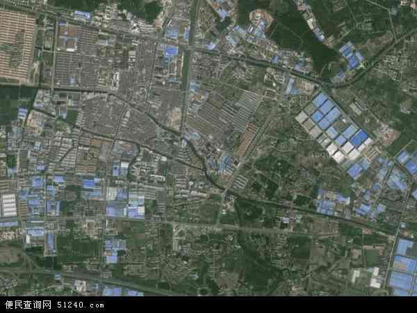 中国江苏省无锡市江阴市华士镇地图(卫星地图)